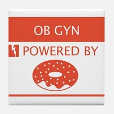 OB GYN Powered by Doughnuts Tile Coaster
