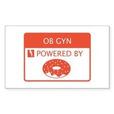 OB GYN Powered by Doughnuts Decal