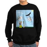 Hiking with an Eagle Sweatshirt (dark)