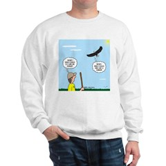 Hiking with an Eagle Sweatshirt