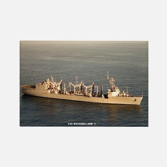 USS ROANOKE Rectangle Magnet