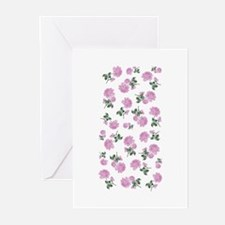 Shabby Chic Pink Floral Greeting Cards (Pk of 10)
