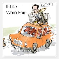"""Romney Vs Irish Setters Square Car Magnet 3"""" x 3"""""""