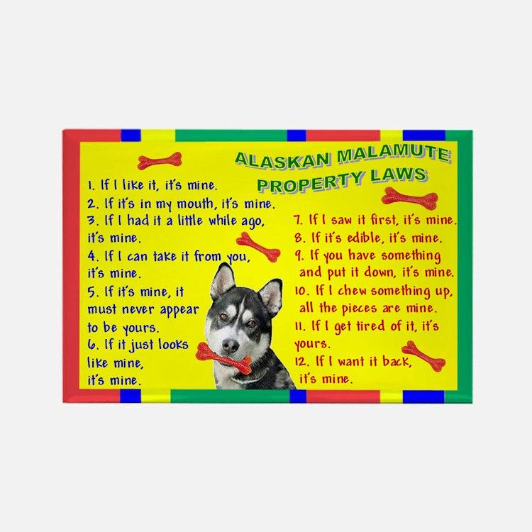 Property Laws -Alaskan Malamute Magnets