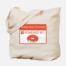 Nurse Practitioner Powered by Doughnuts Tote Bag