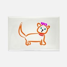 Cute Kitty Cat Rectangle Magnet