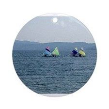 Sailing Race Ornament (Round)