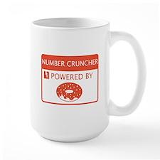 Number Cruncher Powered by Doughnuts Mug