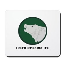 104th Division (IT) with Text Mousepad