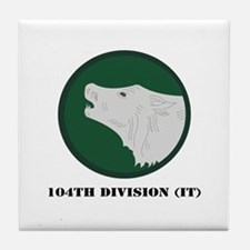 104th Division (IT) with Text Tile Coaster