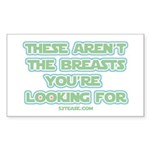 Star Wars Girl Geek Breasts Rectangle Sticker