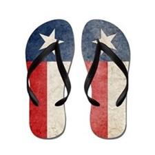Faded Texas Flag Flip Flops