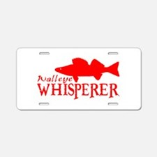 WALLEYE WHISPERER Aluminum License Plate