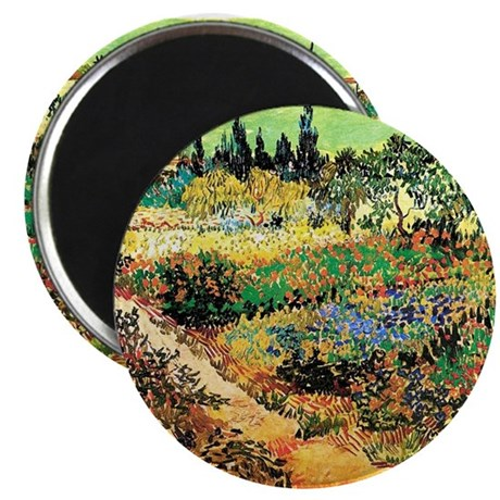 """Flowering Garden with Path 2.25"""" Magnet (100 pack)"""