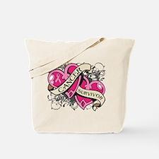 Heart Breast Cancer Survivor Tote Bag