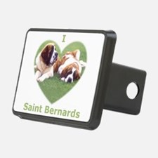 I Love St Bernard Dogs Hitch Cover
