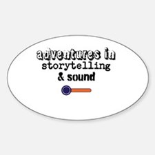 Adventures in Storytelling Sound Sticker (Oval)