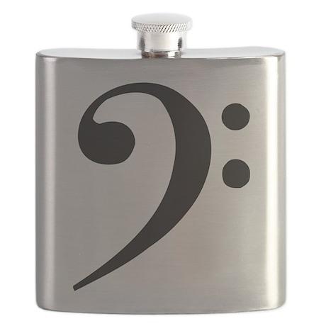 Flask w/ bass clef
