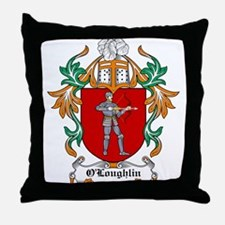 O'Loughlin Coat of Arms Throw Pillow