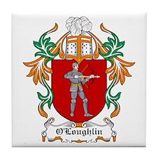O'Loughlin Coat of Arms Tile Coaster