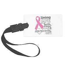 Living Life Faith Breast Cancer Luggage Tag