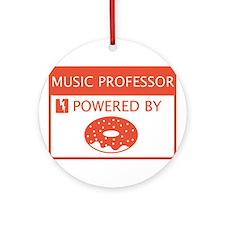 Music Professor Powered by Doughnuts Ornament (Rou