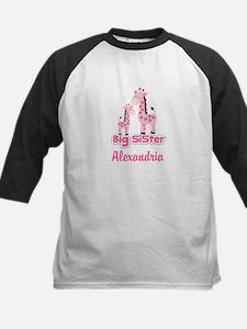 Customized Big Sister Giraffe Kids Baseball Jersey