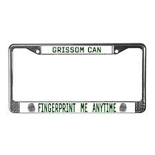 GRISSOM FINGERPRINTS License Plate Frame