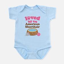 Loved By American Shorthair Cat Infant Bodysuit