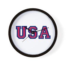 USA Logo Wall Clock
