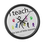 teach4them.png Large Wall Clock