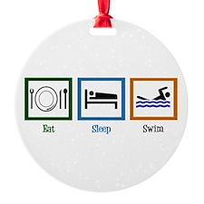 Eat Sleep Swim Ornament
