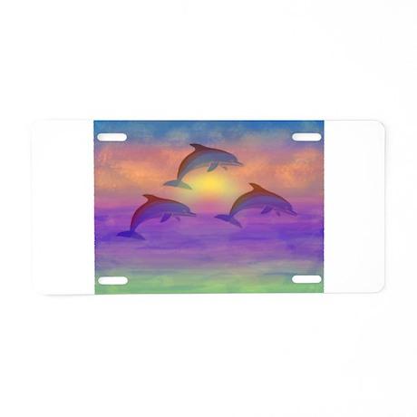 Dolphin Dream Aluminum License Plate