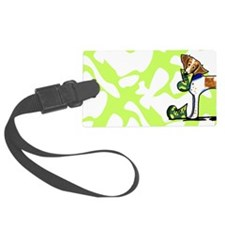 Brittany Lime Camo Luggage Tag