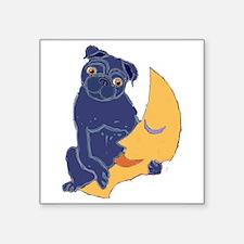 """Cute Puglet Square Sticker 3"""" x 3"""""""
