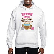 Loved By American Wirehair Cat Hoodie