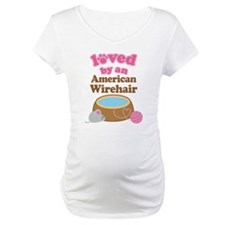 Loved By American Wirehair Cat Shirt