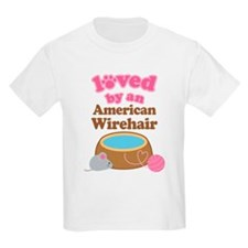 Loved By American Wirehair Cat T-Shirt