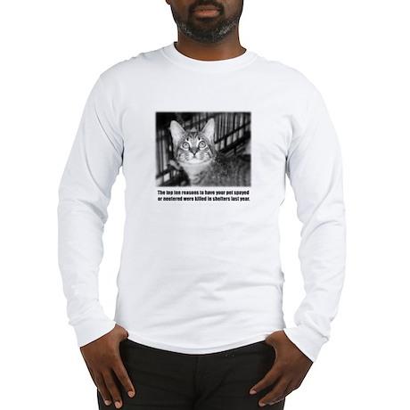 Top Ten Reasons Cat Long Sleeve T-Shirt