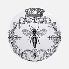 Vintage Queen Bee Ornament (Round)