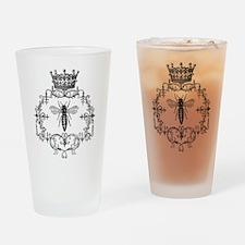 Vintage Queen Bee Drinking Glass