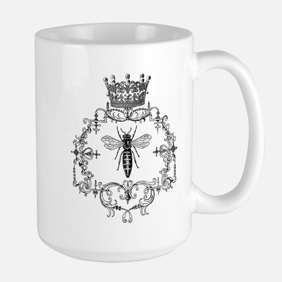 Vintage Queen Bee Large Mug