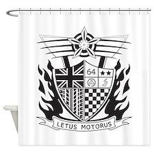 Cute British motoring Shower Curtain