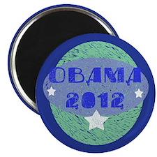 """Blue Green Obama 2012 2.25"""" Magnet (100 pack)"""
