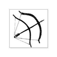 "DH Bow Square Sticker 3"" x 3"""