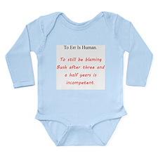 To Err Is Human Long Sleeve Infant Bodysuit