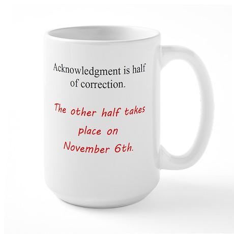 Half Of Correction Large Mug