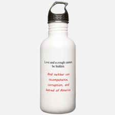 Love And a Cough Water Bottle