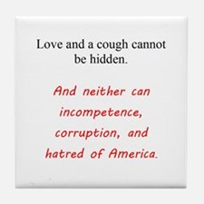 Love And a Cough Tile Coaster