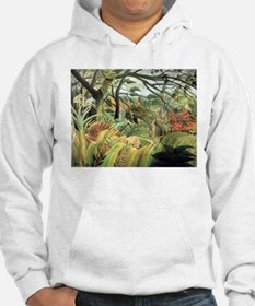 Henri Rousseau tiger in a tropical storm Hoodie